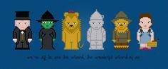 The Wizard of Oz Characters - Cross Stitch PDF Pattern Download