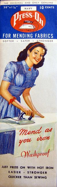 Press-On: Mend as you iron!, via Flickr.