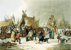"""Морозная ярмарка"" на Темзе 200 лет назад |АНГЛОМАНИЯ"