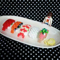 3D Sushi perler beads by tomochintomochin
