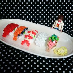 3D Sushi perler beads by tomochintomochin