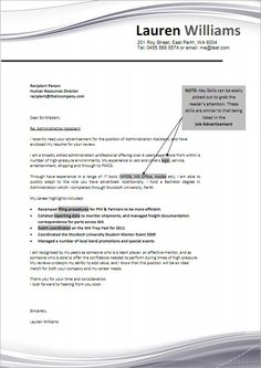 job cover letter sample