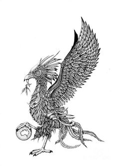 Liverpool Drawing - Liver Bird by Emma Spears