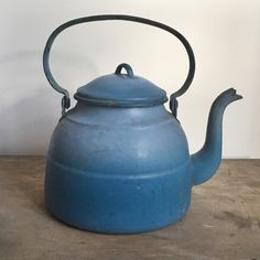 Teapot blue teapot French teapot French by FarawayPlacesVintage