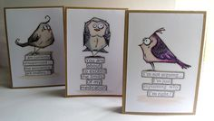 I've had a set of the Tim Holtz designed Bird Crazy for a wee while now and often stamp them out and colour them in with my Promarkers just...