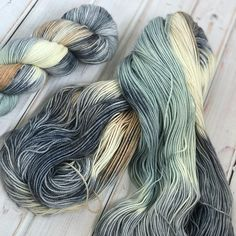 Winter's Circus, worsted weight hand dyed yarn