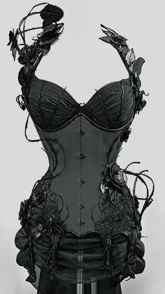 Amazing Black Rose Corset