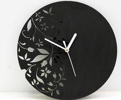 Laser Cut Wall Clock Modern Floral Design by antpgomes - Thingiverse