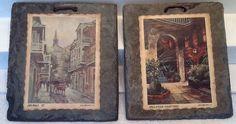 Brulatour Courtyard Orleans St New Orleans Art 200 Year Old Slate Roof Tile | eBay