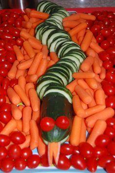 """The Great Devourer"" veggie tray."