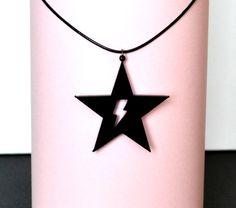 ⚡David Bowie Necklace Blackstar David Bowie Ziggy by Doroga
