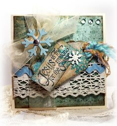 shabby chic christmas cards -