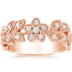 http://www.brilliantearth.com/Jasmine-Ring-(1/2-ct.tw.)-Rose-Gold-BE261/  I wouldn't wear a diamond, but who could say no?
