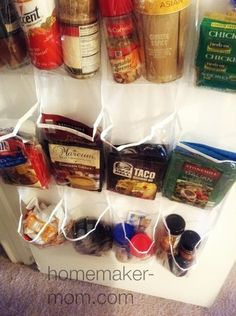 A fast & cheap easy way to store your spices & cooking packets & those pesky take out condiments kids love