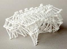 Animaris Geneticus Ondularis 3d printed Art Sculptures