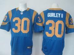 a581b5963 Men s St. Louis Rams  30 Todd Gurley II Royal Blue Alternate NFL Nike Elite