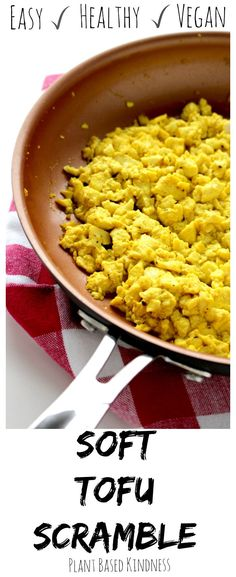 The best tofu scramble ever. It even looks like real eggs! You could fool anyone… The best tofu scramble ever. It even looks like real eggs! You could fool anyone with this soft tofu scramble! It's vegan,gluten-free, and healthy! Tofu Recipes, Whole Food Recipes, Vegetarian Recipes, Cooking Recipes, Healthy Recipes, Recipes With Soft Tofu, Tofu Dishes, Vegan Dishes, Bacon