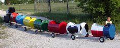 Miller - Welding Projects - Idea Gallery - Barrel Train