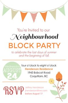 Neighborhood Block Party Invitation Free Printable Our Thrifty