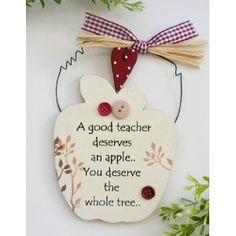 Teachers Wooden Apple Plaque