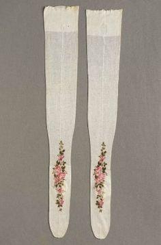 Pair of women's stockings - Museum of Fine Arts, Boston