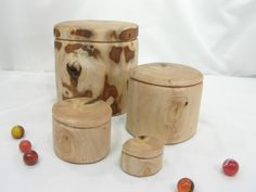 A personal favorite from my Etsy shop https://www.etsy.com/listing/250352659/oregon-myrtlewood-nesting-boxes-set-of-4