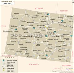 Colorado Latitude And Longitude Map K Social Studies - Colorado state map with counties and cities