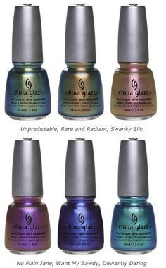China Glaze 2012 Bohemian Luster Chrome Collection