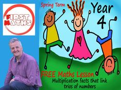 YouTube Multiplication facts that link trios of numbers - Year 4 Maths Presentation -  Spring Term Year 4 Maths, Maths Day, Teaching Packs, Teaching Math, Maths Working Wall, Powerpoint Lesson, Powerpoint Presentations, Spring Term, Math Work