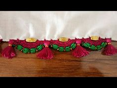 Crochet flower petal shape double arch kuchu - YouTube Saree Tassels Designs, Saree Kuchu Designs, Blouse Designs, Chrochet, Flower Petals, Crochet Flowers, Indian Jewelry, Silk Sarees, Diy Clothes
