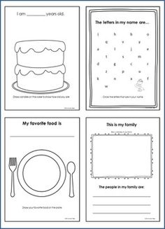 44 best All about me book images on Pinterest in 2018 | Preschool ...
