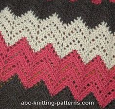images of free crocheted afghan patterns | Free Ripple Afghan Crochet Pattern / crochet ideas and tips ...