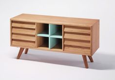 I am a sucker for G plan 1950's/60's furniture, as well as pieces such as this which is clearly inspired by it.