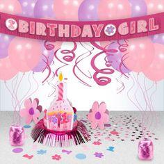 Pink Polka Dot 1st Birthday Decoration Kit Decoration Kits Party