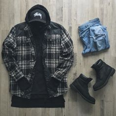Outfit grid - Checked jacket