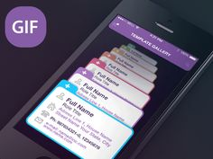 GIF Template Gallery by Sergey Valiukh, via Behance