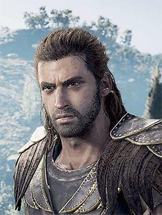 Alexios 1/? Assassins Creed Origins, Assassins Creed Odyssey, Pan Mythology, Ancient Sparta, Assassin's Creed, Science Fiction, Monsters, Fandom, Artwork