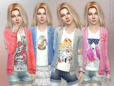 Pretty Cardigan P6  Found in TSR Category 'sims 4 Female Child Everyday'