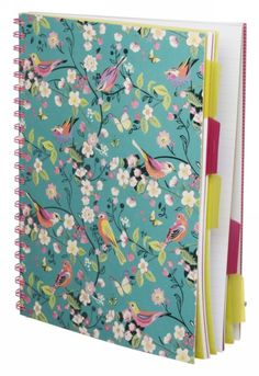 Melodie Turquoise Bird and Floral A4 Project Notebook - £6.99