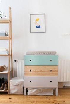 mommo design: HACKS IN THE NURSERY - Tarva dresser as changing table