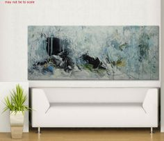 72x30 large abstract painting wall art xxl by ElenasArtStudio