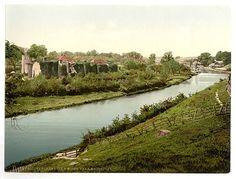 1890s view of Allington Castle, illustrating its riverside location