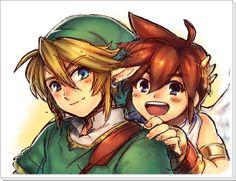 Pit and Link Super Smash Bros.