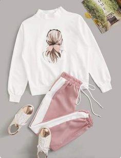 Girls Fashion Clothes, Teen Fashion Outfits, Indian Fashion Dresses, Cute Fashion, Cute Lazy Outfits, Stylish Outfits, Mode Adidas, Korean Girl Fashion, Ideias Fashion