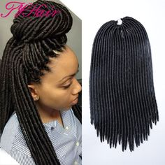 "Hair Extension 18"" 24roots Faux Locs Hair Curly Dreadlocks Crochet Hair Ombre Kanekalon Braiding Hair Synthetic Crochet Braids Hair Extensions *** AliExpress Affiliate's Pin. Clicking on the VISIT button will lead you to find similar product"