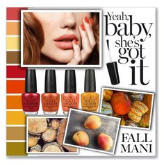 """M is for Manicure"" by mmmartha ❤ liked on Polyvore featuring beauty and OPI"