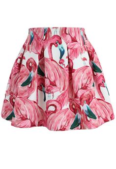 - Flamingo pattern - Elastic waistband - Concealed side zip closure - Lined - polyester - Machine washable Size(cm) Length Waist Hip XS 36 94 S 37 98 M 38 102 L 39 106 Size(inch) Length Waist Hip XS 14 37 S M 15 40 L . Cute Skirts, A Line Skirts, Pink Outfits, Cool Outfits, Flamingo Pattern, Flamboyant, Pink Flamingos, Unique Fashion, Pretty In Pink