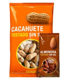 """Frutos Secos Hacendado Designed by Lavernia & Cienfuegos Description from Designers : """"A dry fruits range produced by IMPORTACO exclusively for the supermarket chain MERCADONA. There was a main..."""