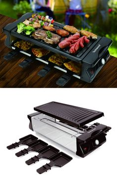 Techwood Electric Raclette Grill BBQ Grill Raclette Tabletop Grill Adjustable Temperature Control 8 Paddles Large Non-stick Grilling Surface for Raclette Party Easy Clean Best Electric Grill, Electric Grills, Raclette Party, George Foreman Grill, Grass Carpet, Specialty Appliances, Small Kitchen Appliances, Bbq Grill, Indoor Outdoor