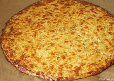 Pizzabodem van bloemkool & mozzarella